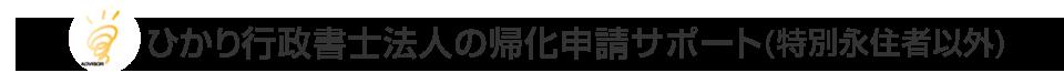 ひかり行政書士法人の帰化申請サポート(特別永住者以外)
